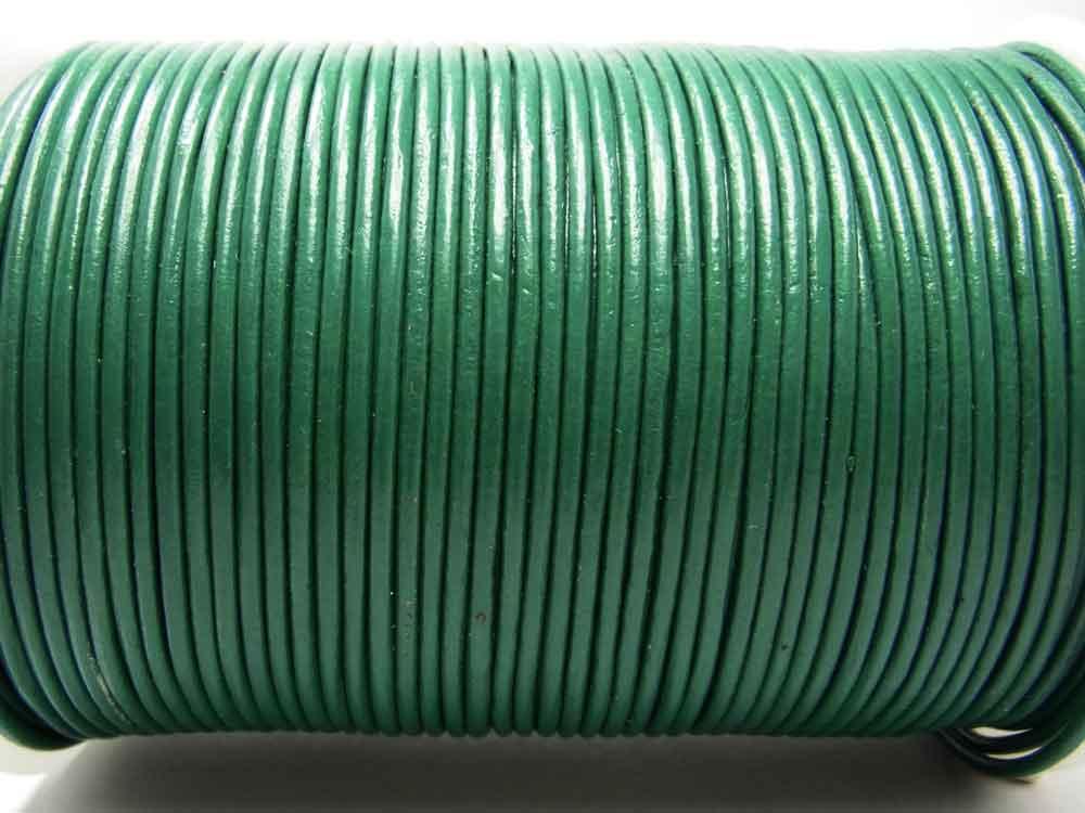 1 m Lederband, Rundleder, ca. 2 mm, dunkelgrün<br /><span>ab</span> 0,90 €