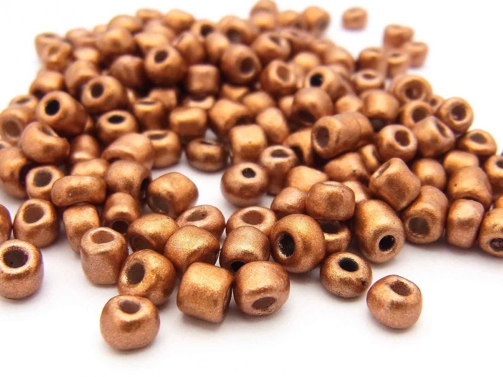 20 g  Rocailles,  4 mm, Größe 6/0, Farbe: kupfer metallic<br /><span>ab</span> 1,15 €
