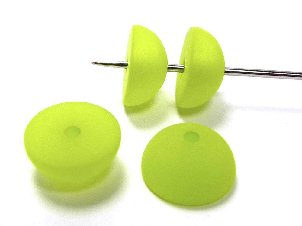 4 Polarisperle, Halbkugel, 12 mm, hellgrün matt<br />1,00 €