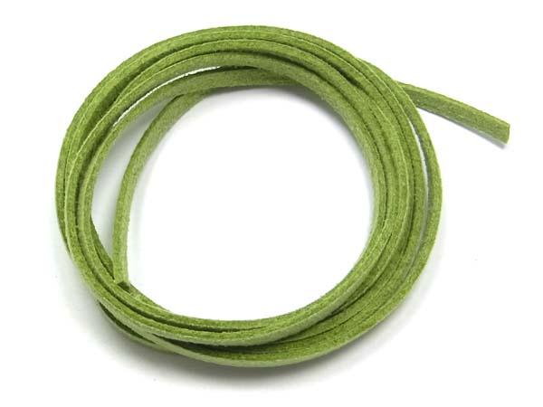 2 Meter Veloursband, Wildlederoptik, 3 mm breit, grün<br />1,00 €