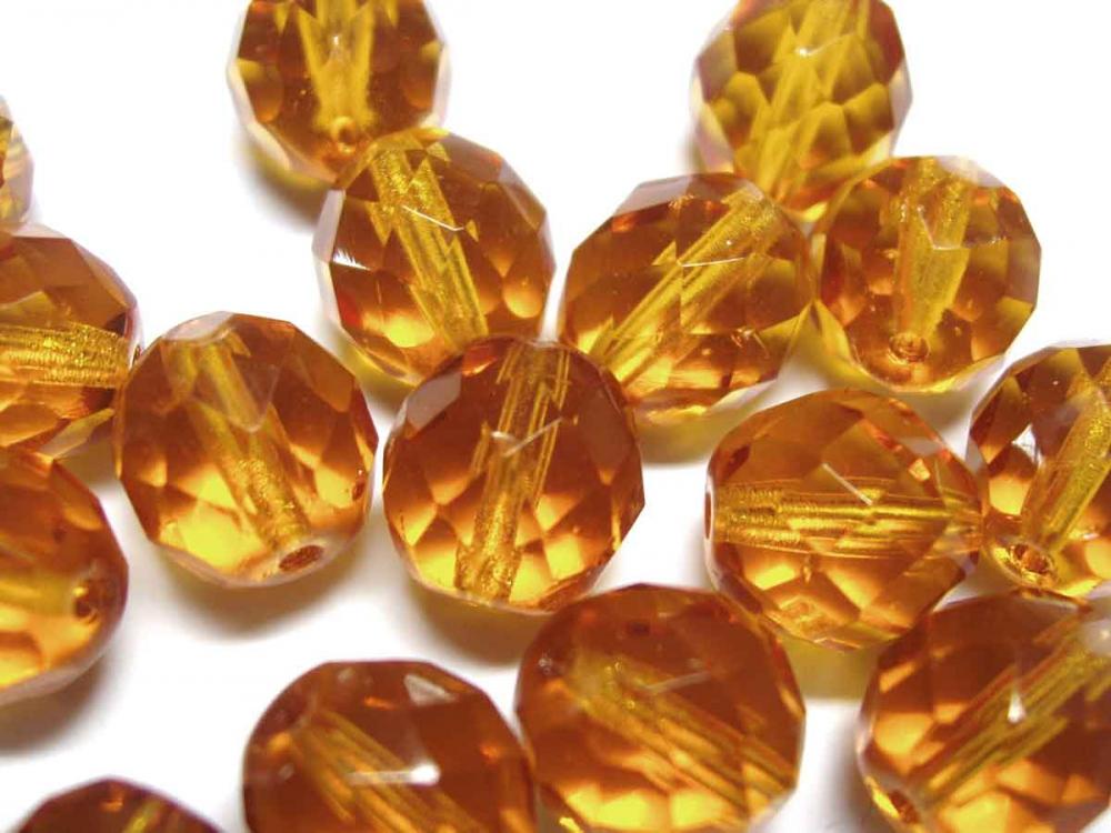 10 Böhmische  Glasschliffperlen, 10 mm, topas<br /><span>ab</span> 1,25 €