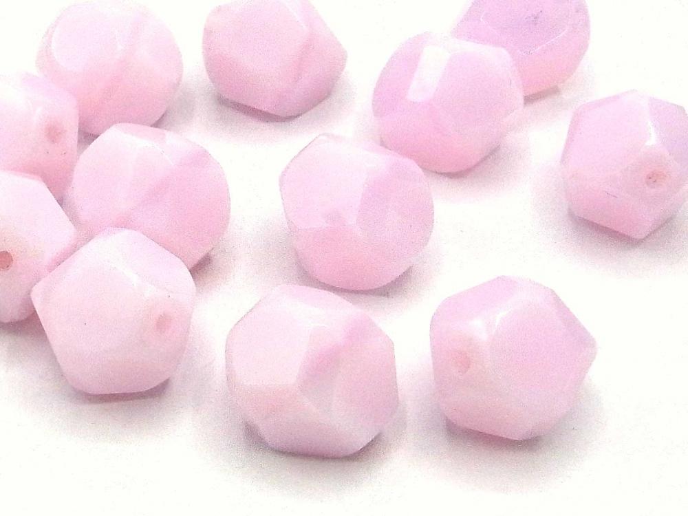 5 Böhmische Glasschliffperlen, 14 mm, rosa opal<br /><span>ab</span> 1,45 €