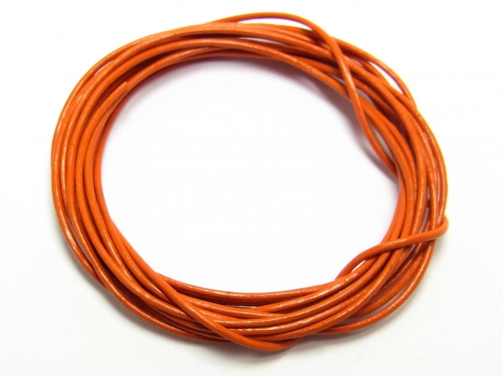1 Meter Lederband, Rundleder, Ø ca. 1 mm, orange<br />1,00 €