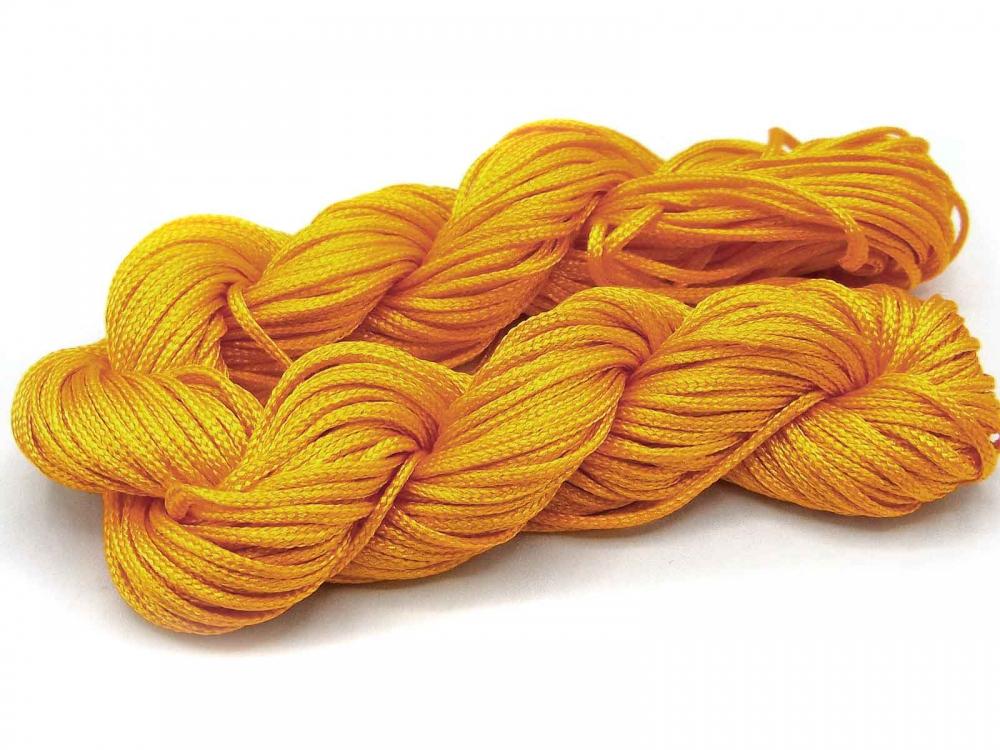 22 Meter Makrameeband,  Schmuckband, Ø 1 mm, goldgelb<br />2,00 €