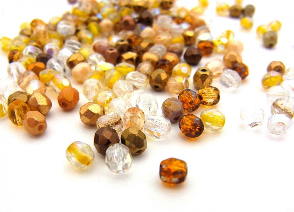 100 böhmische Glasperlen, Glasschliffperlen, 4 mm, Mix ELVIA<br /><span>ab</span> 1,65 €