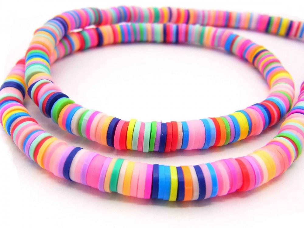 1 Strang Katsuki Perlen, Mix multicolor Frühling, 6 mm, ca. 380 - 400 Stück<br />1,30 €