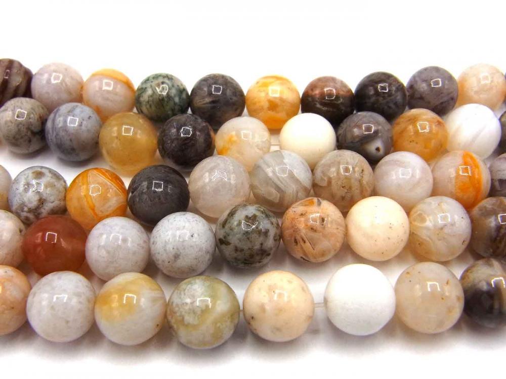 Edelsteinstrang, Achat, Kugel, 8 mm, taupe - braun<br /><span>ab</span> 5,20 &euro;