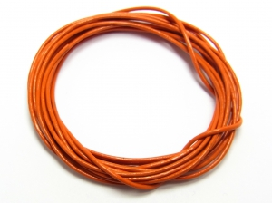 1-Meter-Lederband-Rundleder--ca-1-mm-orange