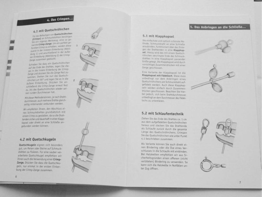 Broschüre: Schmuck aus Draht, Anleitung, Techniken, Tricks ...