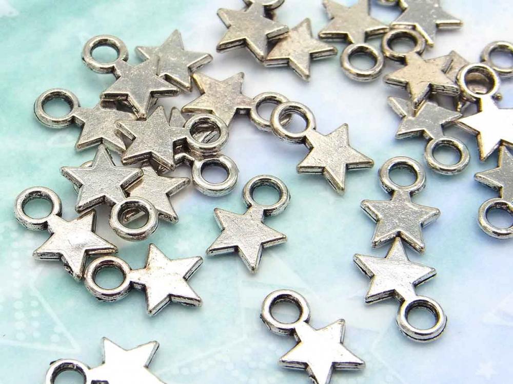 20 bronze Stern-Anhänger bauchig
