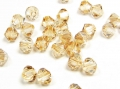 20 Swarovski Elements, bicone, 4 mm, crystal golden shadow