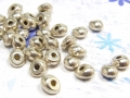 20 x Metallperle, kleine Nuggets, 6 x 5 mm, versilbert