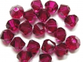 20 Swarovski Elements, bicone, 4 mm, ruby