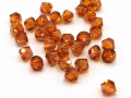 20 x Swarovski Elements, bicone, 4 mm, crystal copper