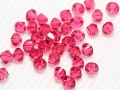 20 Swarovski Elements, bicone, 4 mm, indian pink