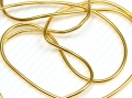 Griffin Bouillon French Wire Perlspiraldraht, 1 mm, vergoldet, 45 cm
